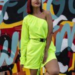 Vestido verde neon