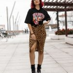 Camiseta estampada y leopardo
