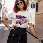 Camiseta estampado letras y coche Speed Racer